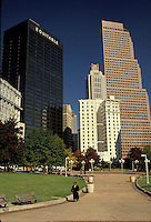 Georgia, GA, Atlanta, Skyline of Downtown Atlanta from Woodruff Park.