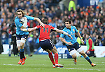 Marco Bortolami of Italy escapes the tackle made by Tim Visser of Scotland - RBS 6Nations 2015 - Scotland  vs Italy - BT Murrayfield Stadium - Edinburgh - Scotland - 28th February 2015 - Picture Simon Bellis/Sportimage