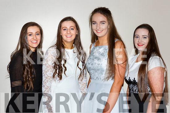 Callinafercy Rowers who won the u16 All Ireland at the Kerry Sports Stars awards in the INEC on Friday night l-r: Aoife Murphy, Orla Murphy, Sarah kennedy and Grace O'Grady