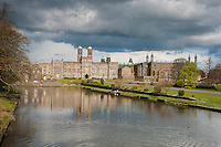"Stonyhurst College is a Roman Catholic independent school, adhering to the Jesuit tradition located near the village of Hurst Green in the Ribble Valley area of Lancashire, England. Former pupil Sir Arthur Conan Doyle's  ""Baskerville Hall"" was modelled on Stonyhurst Hall and J. R. R. Tolkien wrote part of The Lord of the Rings in a classroom on the Upper Gallery."