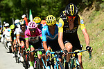 Robert Gesink (NED) LottoNL-Jumbo leads the breakaway group during Stage 12 of the 2018 Tour de France running 175.5km from Bourg-Saint-Maurice les Arcs to Alpe D'Huez, France. 19th July 2018. <br /> Picture: ASO/Alex Broadway | Cyclefile<br /> All photos usage must carry mandatory copyright credit (&copy; Cyclefile | ASO/Alex Broadway)