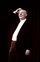 Dario Fo was an Italian actor–playwright, comedian, singer, theatre director, stage designer, songwriter, painter, political campaigner for the Italian left-wing and the recipient of the 1997 Nobel Prize in Literature. Milano novembre 1990. © Leonardo Cendamo