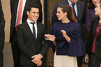 Javier Gomez (L) and Ona Carbonell during the 2013 Sports National Awards ceremony at El Pardo palace in Madrid, Spain. December 03, 2014. (ALTERPHOTOS/Victor Blanco)