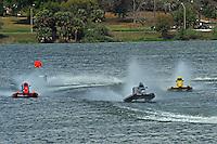 (L to R):Brent Dillard (#80), Jeff Reno, #3, Brian Burkhardt, #28 (SST-120 class)