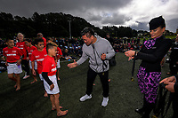 Keven Mealamu presents Poverty Bay players with their medals after the final of the 2017 Air NZ Rippa Rugby Championship at Wakefield Park in Wellington, New Zealand on Tuesday, 19 September 2017. Photo: Dave Lintott / lintottphoto.co.nz
