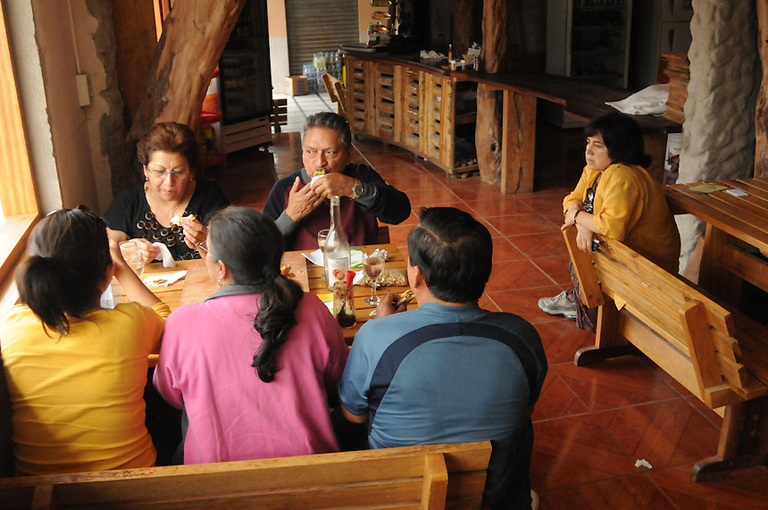 Dining at one of two restaurants in the village of Mindo, Ecuador