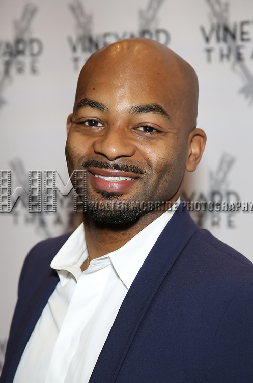 Brandon Victor Dixon attends the Vineyard Theatre Gala 2018 honoring Michael Mayer at the Edison Ballroom on May 14, 2018 in New York City.