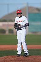 Jaxson Lucas (48), from Pelham, Alabama, while playing for the Nationals during the Under Armour Baseball Factory Recruiting Classic at Red Mountain Baseball Complex on December 28, 2017 in Mesa, Arizona. (Zachary Lucy/Four Seam Images)
