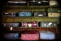 Suitcases on shelves at West Park abandoned asylum http://www.vivecakohphotography.co.uk/2011/03/21/your-smiling-face/