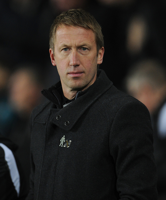 Swansea City manager Graham Potter <br /> <br /> Photographer Kevin Barnes/CameraSport<br /> <br /> The EFL Sky Bet Championship - Swansea City v West Bromwich Albion - Wednesday 28th November 2018 - Liberty Stadium - Swansea<br /> <br /> World Copyright © 2018 CameraSport. All rights reserved. 43 Linden Ave. Countesthorpe. Leicester. England. LE8 5PG - Tel: +44 (0) 116 277 4147 - admin@camerasport.com - www.camerasport.com