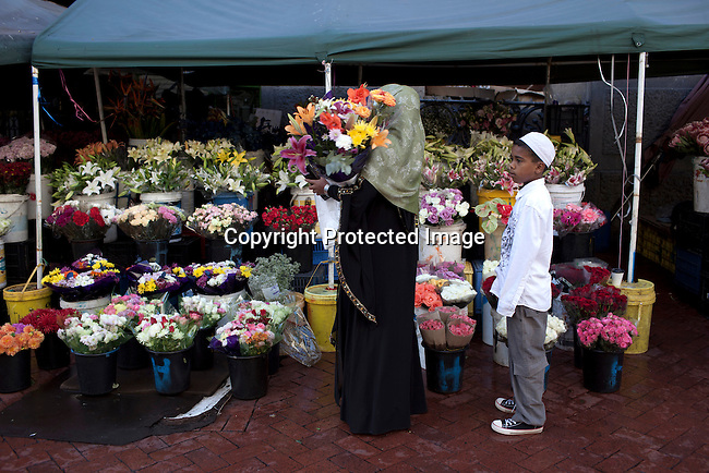 CAPE TOWN, SOUTH AFRICA - MARCH 21: The flower market on Adderley street on March 21, 2012 in Cape Town, South Africa (Photo by Per-Anders Pettersson For Le Monde)