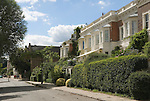Georgian terraced housing  Chiswick Mall London W6 UK 2008