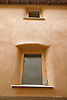 Thick lime plaster walls of an Eco House at The Wintles; Bishops Castle,