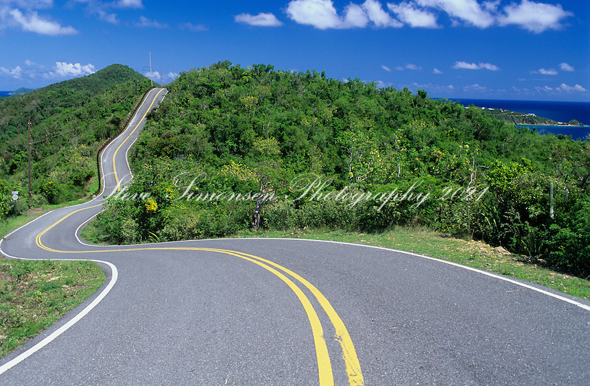 Road to the east end<br /> St John<br /> U.S. Virgin Islands
