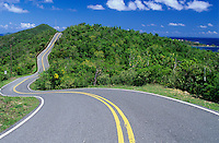 Road to the east end<br /> St John<br /> U.S. Virgin Islands
