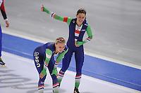 SCHAATSEN: BERLIJN: Sportforum Berlin, 07-12-2014, ISU World Cup, Bo van der Werff (NED), Floor van den Brandt (NED), ©foto Martin de Jong