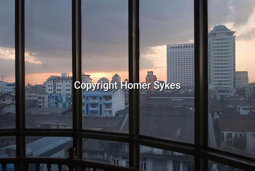 Yangon Rangoon  Burma Myanmar 2011 City skyline