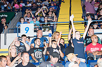 The crowd reacts before WWE Champion Jinder Mahal and Randy Orton fight at a WWE Live Summerslam Heatwave Tour event at the MassMutual Center in Springfield, Massachusetts, USA, on Mon., Aug. 14, 2017. Mahal lost the match.