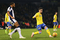 Leeds United's Pablo Hernandez attempts to push his side forwards<br /> <br /> Photographer David Shipman/CameraSport<br /> <br /> The EFL Sky Bet Championship - West Bromwich Albion v Leeds United - Saturday 10th November 2018 - The Hawthorns - West Bromwich<br /> <br /> World Copyright &copy; 2018 CameraSport. All rights reserved. 43 Linden Ave. Countesthorpe. Leicester. England. LE8 5PG - Tel: +44 (0) 116 277 4147 - admin@camerasport.com - www.camerasport.com