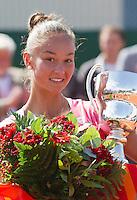 20-08-11, Tennis, Amstelveen, Nationale Tennis Kampioenschappen, NTK, Lesley Kerkhove winnares