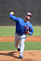 Toronto Blue Jays pitcher Adam Kloffenstein during a Minor League Spring Training game against the New York Yankees on May 3, 2019 at the Yankees Minor League Complex in Tampa, Florida.  (Mike Janes/Four Seam Images)