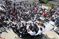 DPi Podium, #55 Mazda Team Joest Mazda DPi, DPi: Jonathan Bomarito, Harry Tincknell, Olivier Pla, #77 Mazda Team Joest Mazda DPi, DPi: Oliver Jarvis, Tristan Nunez, Timo Bernhard, #6 Acura Team Penske Acura DPi, DPi: Juan Pablo Montoya, Dane Cameron, Celebrates with team