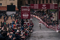Tiesj Benoot (BEL/Lotto-Soudal) wins the 12th Strade Bianche 2018<br /> <br /> Siena > Siena: 184km (ITALY)
