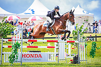 NZL-Virginia Thompson rides Star Nouveau during the Honda New Zealand CCI3* Showjumping (Final-1ST). 2016 NZL-Puhinui International 3 Day Event. Puhinui Reserve, Auckland. Sunday 11 December. Copyright Photo: Libby Law Photography