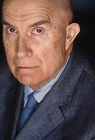 Gianfranco Miglio (11 January 1918 – 10 August 2001) was an Italian jurist, political scientist and politician, founder of the Partito Federalista. Como 28 april 1990. © Leonardo Cendamo