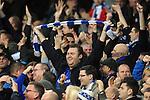 A Leicester City fan celebrates<br /> - Barclays Premier League - Everton vs Leicester City - Goodison Park - Liverpool - England - 19th December 2015 - Pic Robin Parker/Sportimage