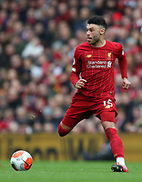 7th March 2020; Anfield, Liverpool, Merseyside, England; English Premier League Football, Liverpool versus AFC Bournemouth; Alex Oxlade-Chamberlain of Liverpool runs with the ball  - Strictly Editorial Use Only. No use with unauthorized audio, video, data, fixture lists, club/league logos or 'live' services. Online in-match use limited to 120 images, no video emulation. No use in betting, games or single club/league/player publications