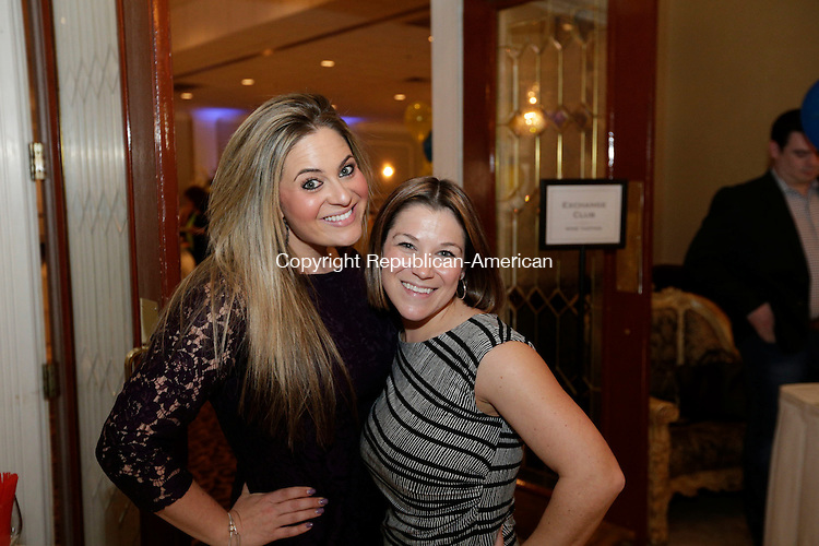 Waterbury, CT- 27 April 2016-042716CM11- SOCIAL MOMENTS From left to right, Jennifer Chaikowski and Marci Cookson are photographed during The Waterbury Exchange Club Charitable Foundation 22nd Annual Wine & Beer Tasting at the La Bella Vista in Waterbury on Wednesday.  Christopher Massa Republican-American