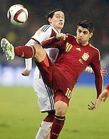 Spain's Alvaro Morata (r) and Germany's Rudy during international friendly match.November 18,2014. (ALTERPHOTOS/Acero) /NortePhoto<br /> NortePhoto.com