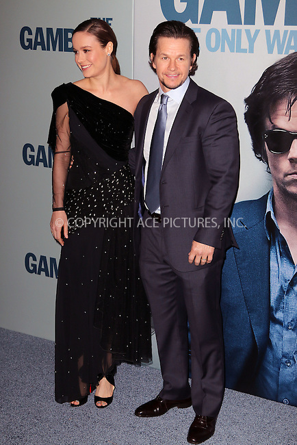 WWW.ACEPIXS.COM<br /> <br /> December 10 2014, New York City<br /> <br /> Brie Larson and Mark Wahlberg arriving at the 'The Gambler' New York Premiere at AMC Lincoln Square Theater on December 10, 2014 in New York City.<br /> <br /> By Line: Zelig Shaul/ACE Pictures<br /> <br /> <br /> ACE Pictures, Inc.<br /> tel: 646 769 0430<br /> Email: info@acepixs.com<br /> www.acepixs.com