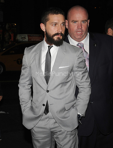 New York,NY October 14: Shia LaBeouf attends the 'Fury' New York Premiere at DGA Theater on October 14, 2014 in New York City Credit: John Palmer/MediaPunch