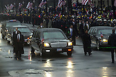 Washington, DC - January 20, 2001-- The Inaugural parade for United States President George W. Bush makes its way down Pennsylvania Avenue from the United States Capitol to the White House..Credit: Ron Sachs / CNP