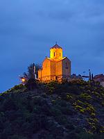 Blick von Festung Narkala auf Kloster Tabor, Tiflis – Tbilissi, Georgien, Europa<br /> Monastery Tabor, Tbilisi, Georgia, Europe