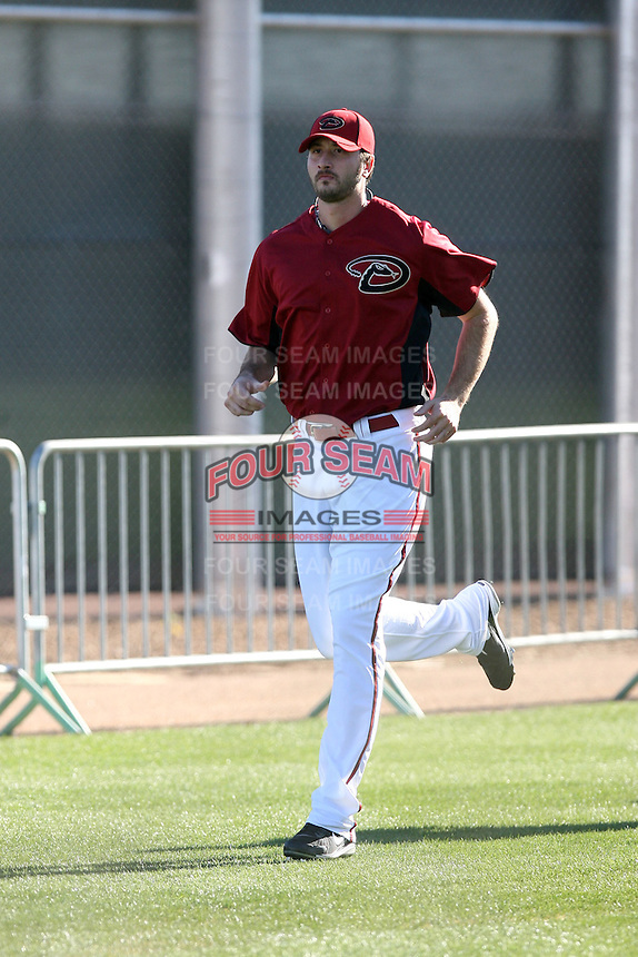 Kam Mickolio, Arizona Diamondbacks 2011 spring training workouts at the Diamondbacks new training complex at Salt River Fields at Talking Stick, Scottsdale, AZ - 02/14/2011.Photo by:  Bill Mitchell/Four Seam Images.