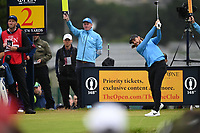 Tommy Fleetwood (ENG) on the 2nd tee during final round of the 148th Open Championship, Royal Portrush golf club, Portrush, Antrim, Northern Ireland. 21/07/2019.<br /> Picture Fran Caffrey / Golffile.ie<br /> <br /> All photo usage must carry mandatory copyright credit (© Golffile | Fran Caffrey)