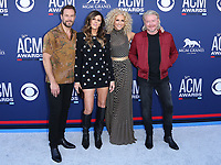 07 April 2019 - Las Vegas, NV - Little Big Town, Jimi Westbrook, Karen Fairchild, Kimberly Schlapman, Phillip Sweet. 54th Annual ACM Awards Arrivals at MGM Grand Garden Arena. Photo Credit: MJT/AdMedia<br /> CAP/ADM/MJT<br /> &copy; MJT/ADM/Capital Pictures