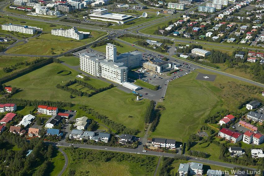 Landspítali Háskólasjukrahús Fossvogur, Reykjavík  /..Landspitali Haskolsajukrahus Hospital in Fossvogur, Reykjavik.