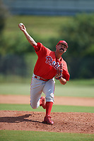 Philadelphia Phillies pitcher Trevor Bettencourt (22) delivers a pitch during an Instructional League game against the Toronto Blue Jays on September 30, 2017 at the Carpenter Complex in Clearwater, Florida.  (Mike Janes/Four Seam Images)