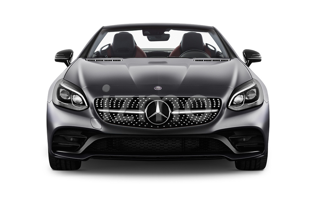 Car photography straight front view of a 2018 Mercedes Benz SLC Sportline 2 Door Convertible