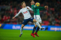 Tottenham's Christian Eriksen and West Bromwich Albion Hal Robson-Kanu during the Premier League match between Tottenham Hotspur and West Bromwich Albion at Wembley Stadium, London, England on 25 November 2017. Photo by Andrew Aleksiejczuk / PRiME Media Images.