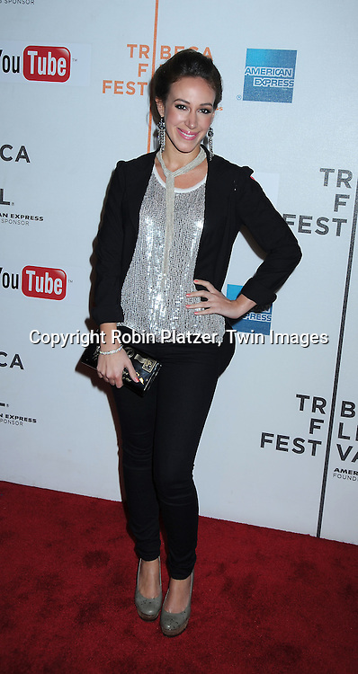 """actress Haylie Duff  posing at The Tribeca Film Festival  Premiere of """" Earth Made of Glass"""" on April 26, 2010 at BMCC Tribeca Performing Arts Center in New York City."""