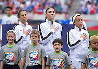 Houston, TX - February 21, 2016: The USWNT defeated Canada 2-0 during the CONCACAF Women's Olympic Qualifying Tournament final at BBVA Compass Stadium.