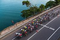 Picture by Alex Whitehead/SWpix.com - 14/04/2018 - Commonwealth Games - Cycling Road - Currumbin Beachfront, Gold Coast, Australia - Women's Road Race. Emily Kay, Abi van Twisk, Manon Lloyd.