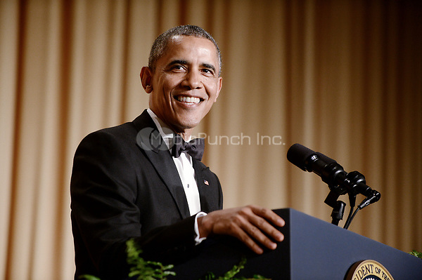 United States President Barack Obama speaks at the annual White House Correspondents Association Gala at the Washington Hilton Hotel, May 3, 2014 in Washington, DC. <br /> Credit: Olivier Douliery / Pool via CNP /MediaPunch