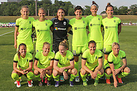 Piscataway, NJ - Sunday June 19, 2016: Seattle Reign starting eleven during a regular season National Women's Soccer League (NWSL) match between Sky Blue FC and Seattle Reign FC at Yurcak Field.