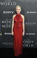www.acepixs.com<br /> <br /> December 18 2017, LA<br /> <br /> Actress Michelle Williams arriving at the premiere of Sony Pictures Entertainment's 'All The Money In The World' at the Samuel Goldwyn Theater on December 18, 2017 in Beverly Hills, California. <br /> <br /> By Line: Peter West/ACE Pictures<br /> <br /> <br /> ACE Pictures Inc<br /> Tel: 6467670430<br /> Email: info@acepixs.com<br /> www.acepixs.com
